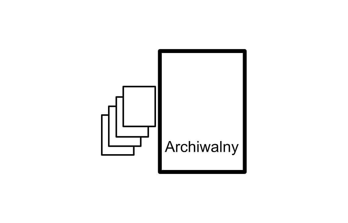 egzemplarz archiwalny projektu domu jednorodzinnego