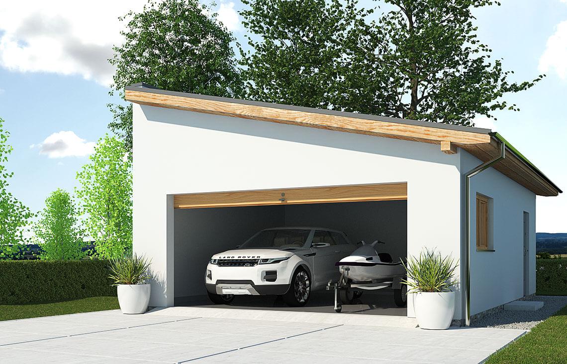 Projekt garażu wolnostojącego APG 2C widok front
