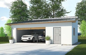 Projekt garażu wolnostojącego APG 2D widok front