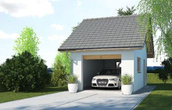 Projekt garażu wolnostojącego APG 5A widok front