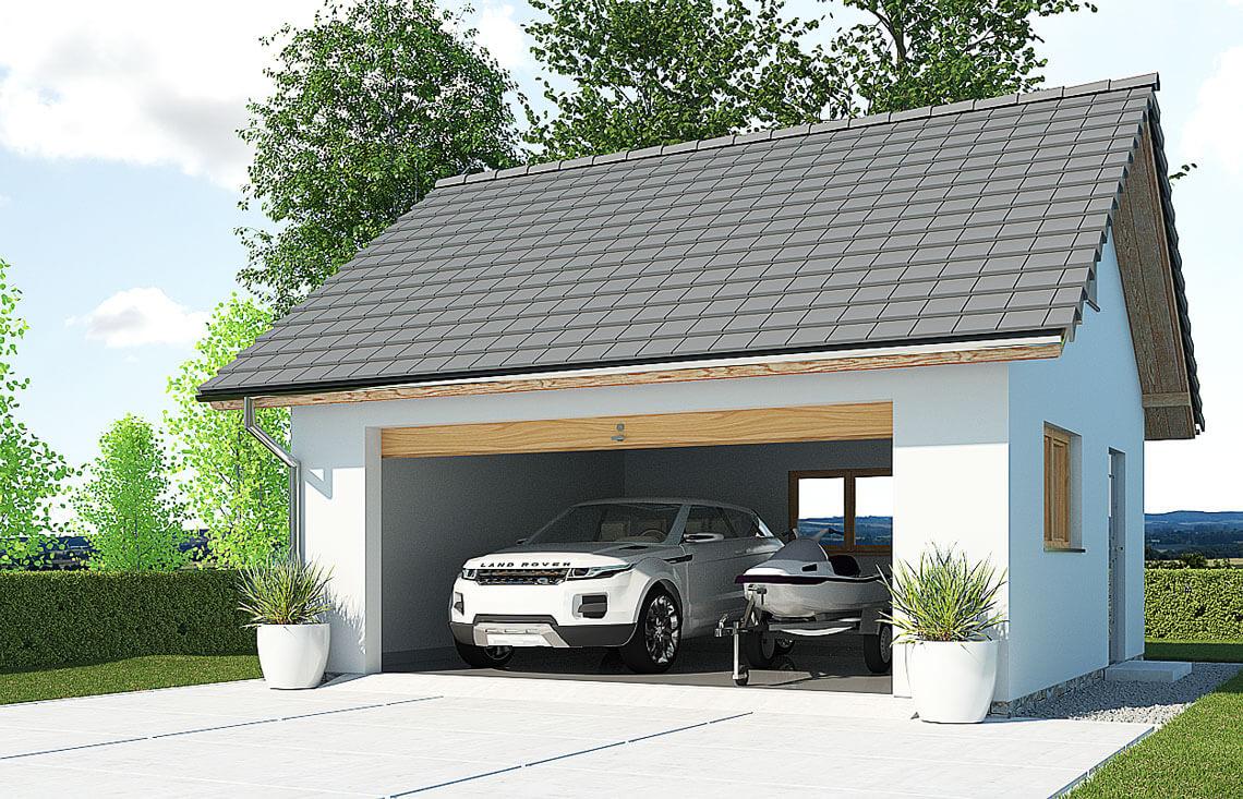 Projekt garażu wolnostojącego APG 5B widok front