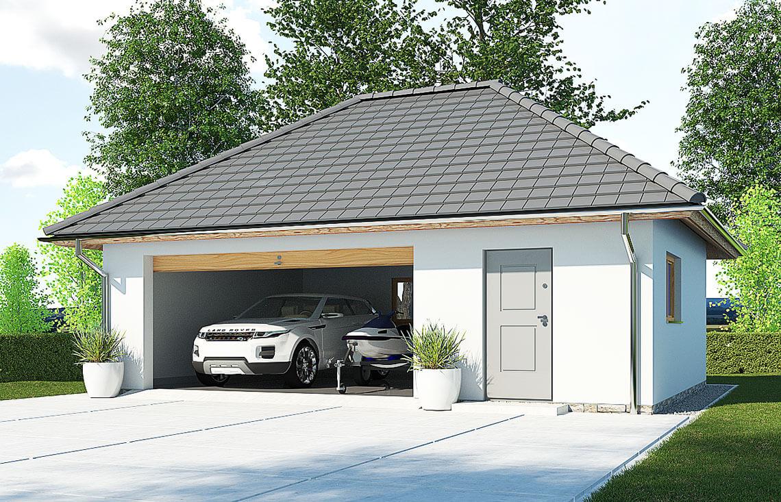 Projekt garażu wolnostojącego APG 7A widok front