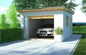 Projekt garażu APG 8 widok front