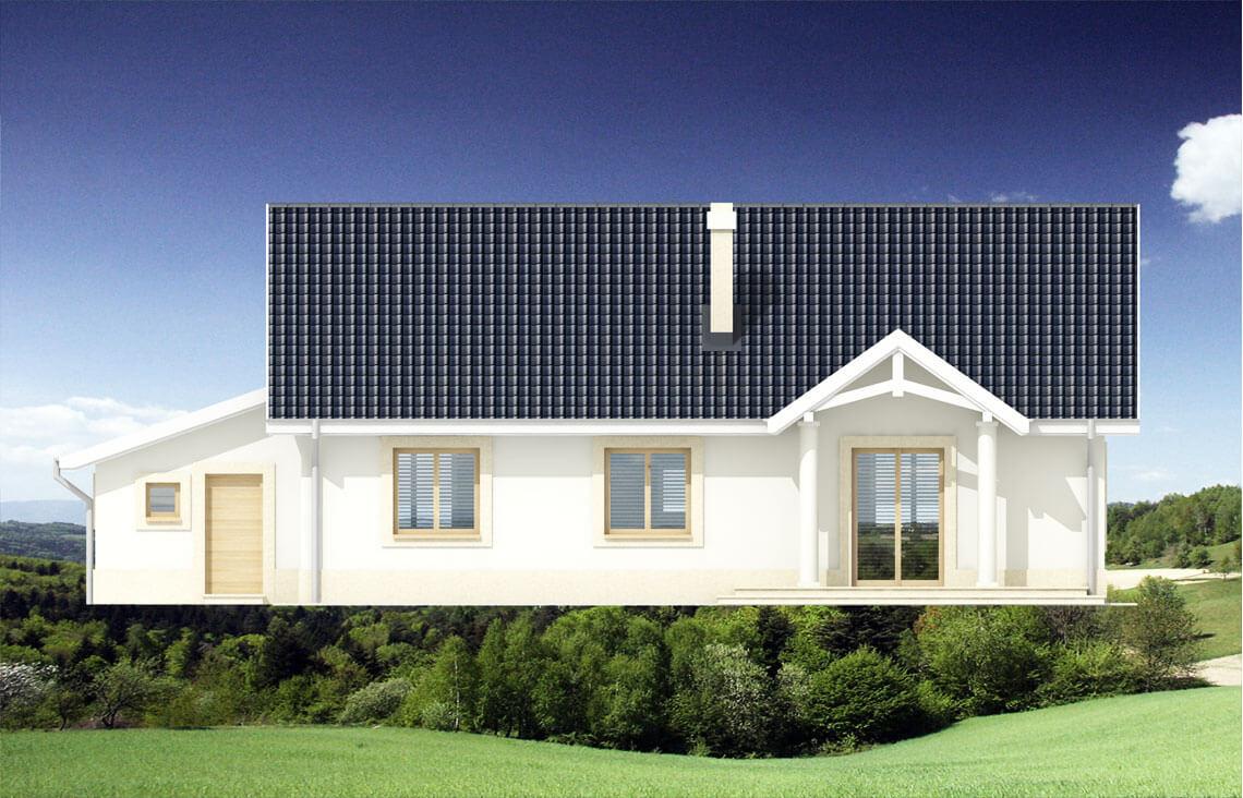 Projekt domu jednorodzinnego Alex elewacja front
