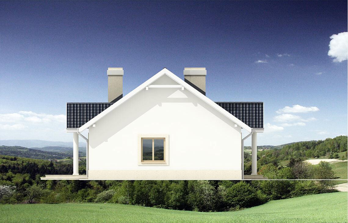 Projekt domu jednorodzinnego Alex elewacja lewa