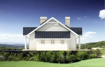 Projekt domu jednorodzinnego Alex elewacja prawa