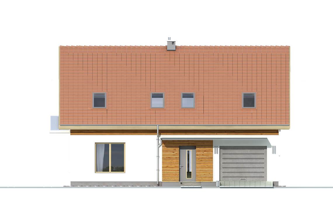Projekt domu jednorodzinnego Amber 2A elewacja front