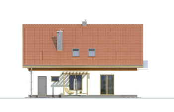 Projekt domu jednorodzinnego Amber 2A elewacja ogród