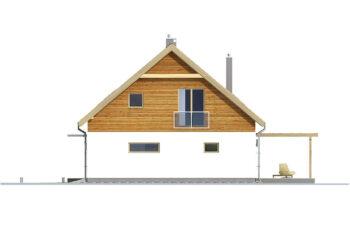 Projekt domu jednorodzinnego Amber 2A elewacja prawa