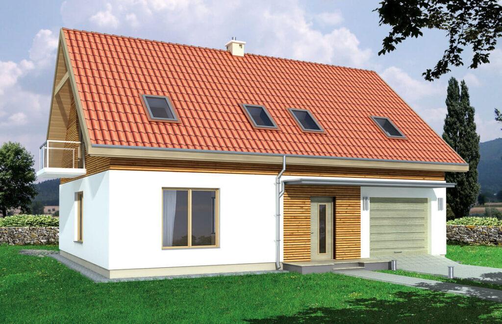 Projekt domu jednorodzinnego Amber 2A widok front