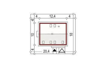 Projekt domu jednorodzinnego Amber 2A sytuacja