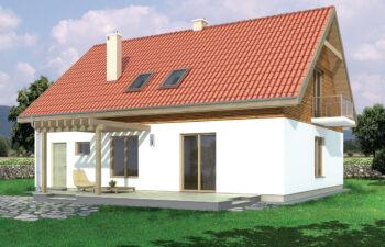 Projekt domu jednorodzinnego Amber 2A widok ogród