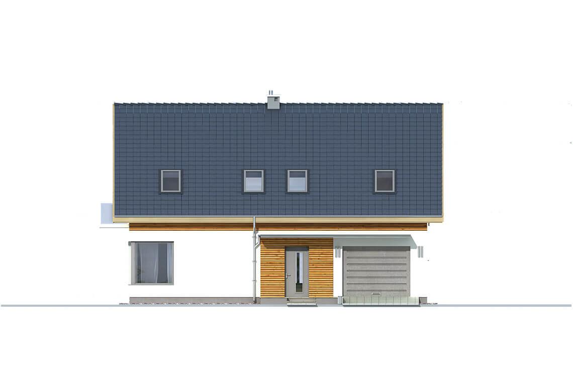 Projekt domu jednorodzinnego Amber A elewacja front