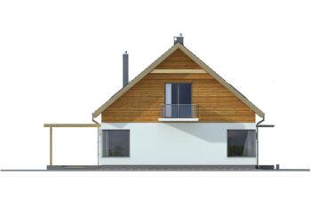 Projekt domu jednorodzinnego Amber A elewacja lewa
