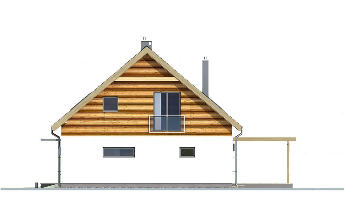 Projekt domu jednorodzinnego Amber A elewacja prawa