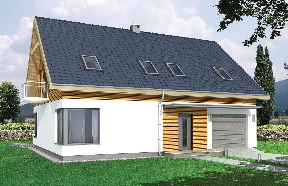 Projekt domu jednorodzinnego Amber A widok front