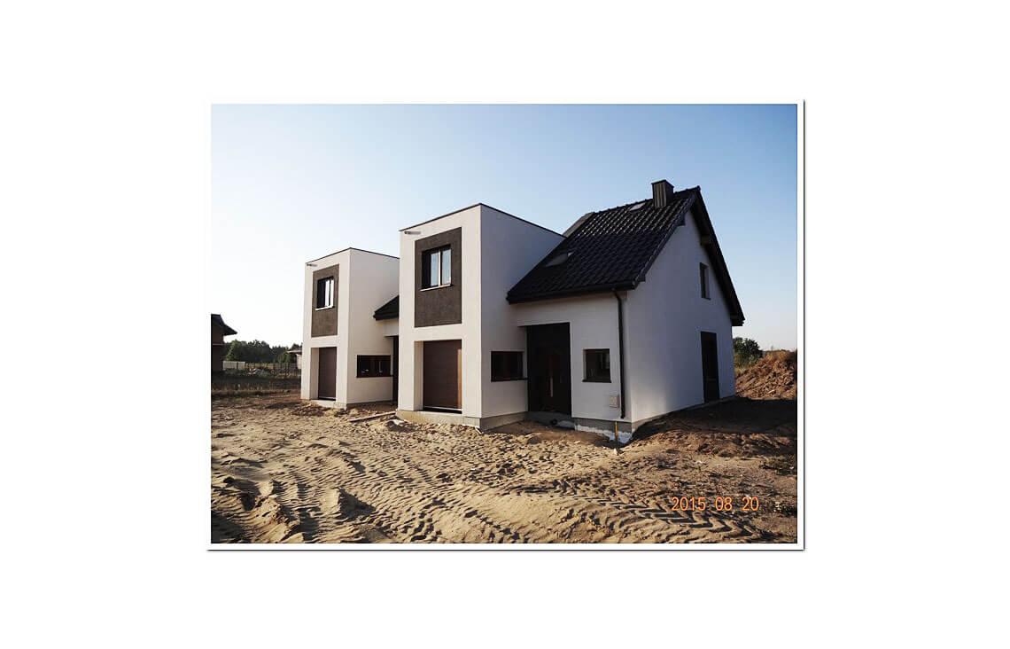 Projekt domu szeregowego-bliźniaczego Andrzej realizacja 5