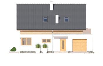 Projekt domu jednorodzinnego Angelina A elewacja front