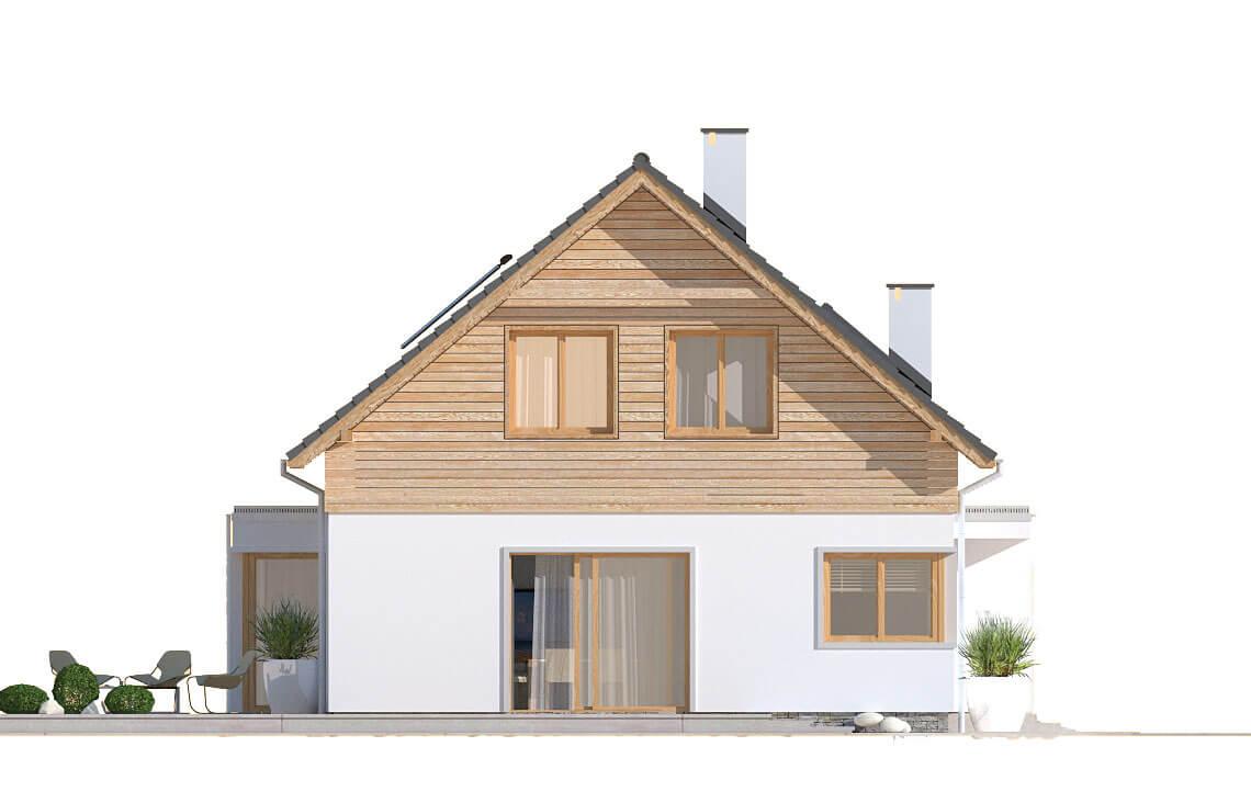 Projekt domu jednorodzinnego Angelina A elewacja lewa