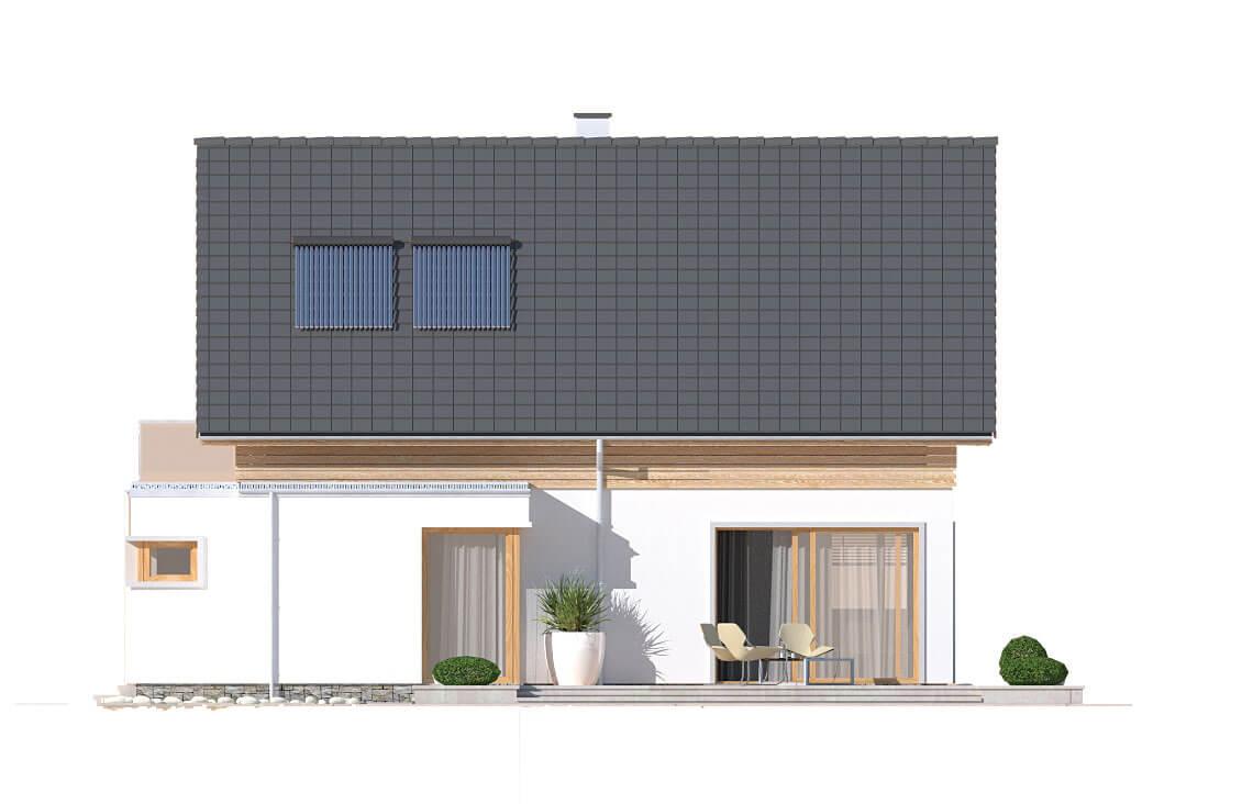 Projekt domu jednorodzinnego Angelina A elewacja ogród