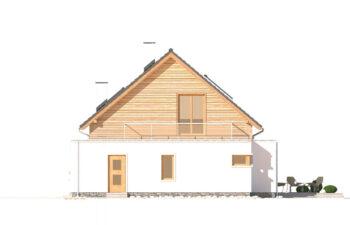 Projekt domu jednorodzinnego Angelina A elewacja prawa