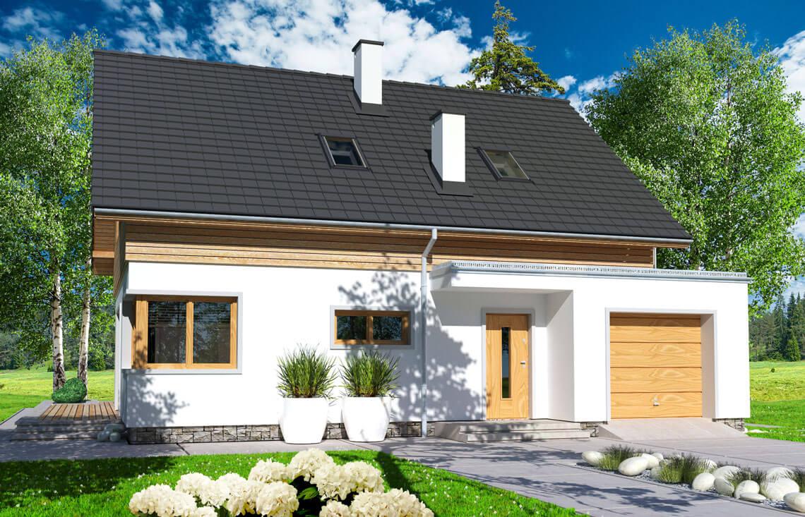 Projekt domu jednorodzinnego Angelina A widok front