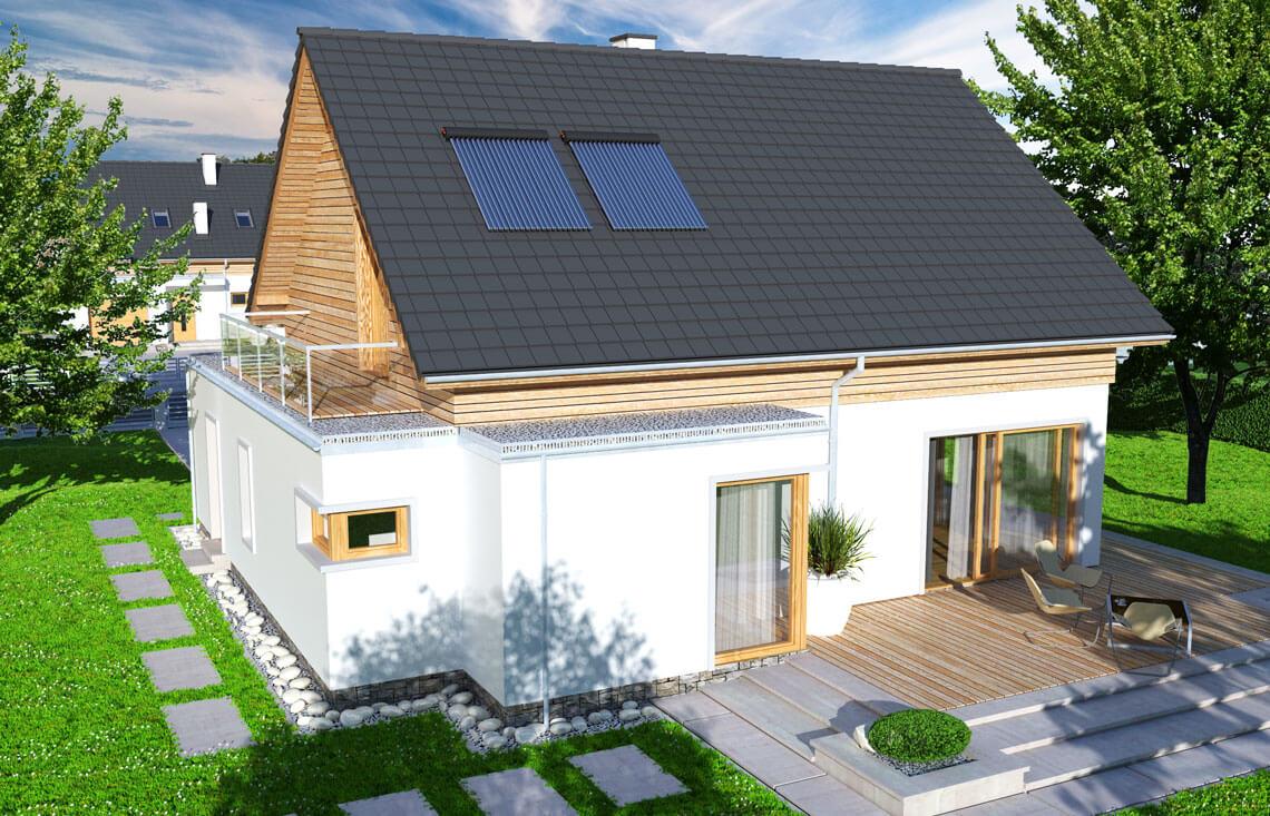 Projekt domu jednorodzinnego Angelina A widok z góry