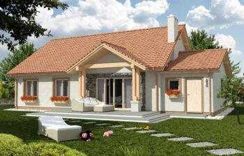 Projekt domu jednorodzinnego Anita A widok ogród