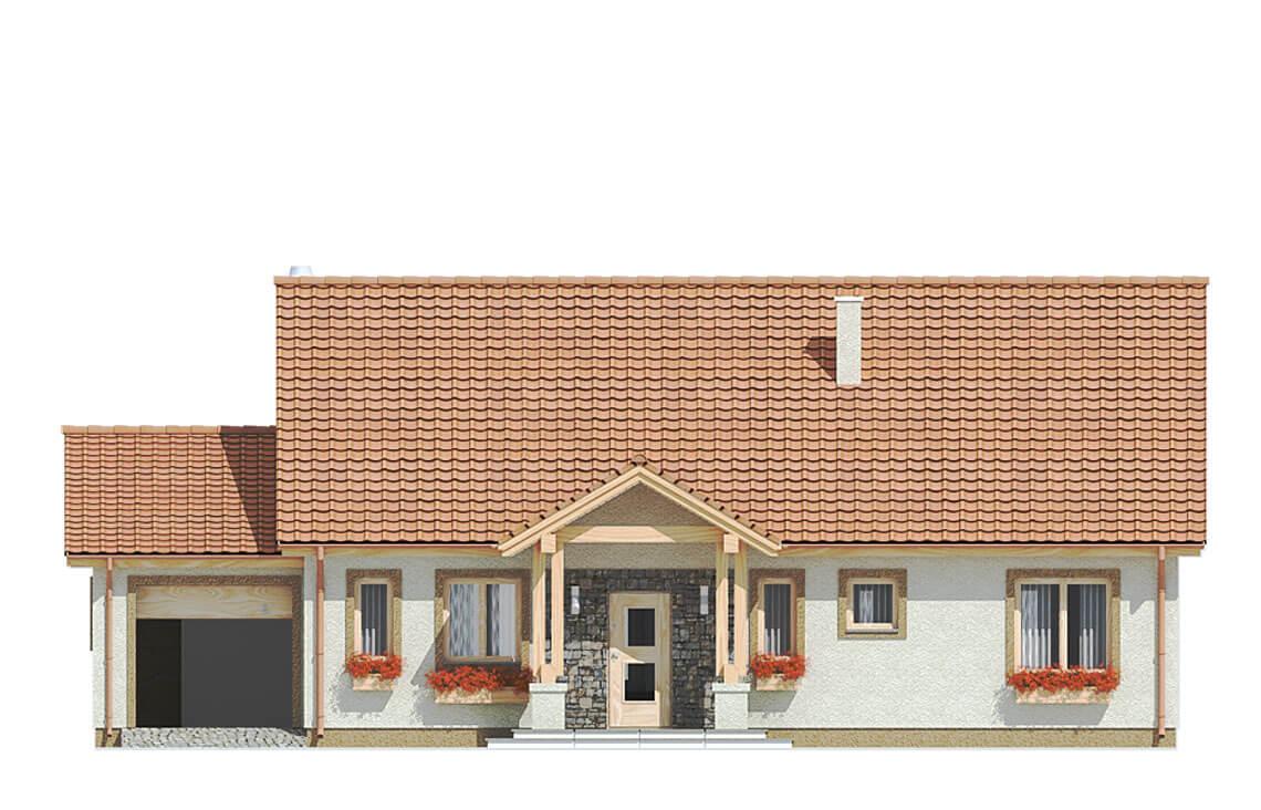 Projekt domu jednorodzinnego Anita A elewacja front