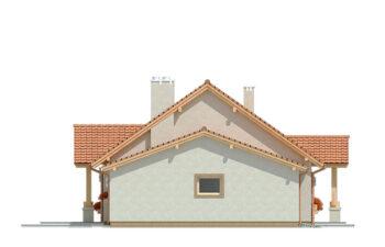 Projekt domu jednorodzinnego Anita A elewacja lewa