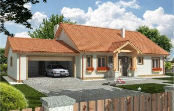 Projekt domu jednorodzinnego Anita B widok front