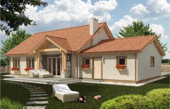 Projekt domu jednorodzinnego Anita B widok ogród