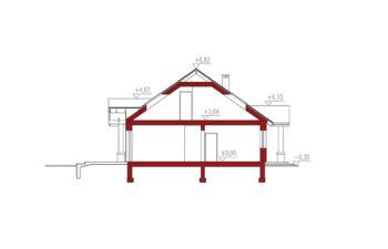 Projekt domu jednorodzinnego Anita Dworek A i B przekrój