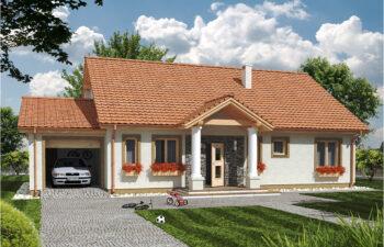 Projekt domu jednorodzinnego Anita Dworek A widok front