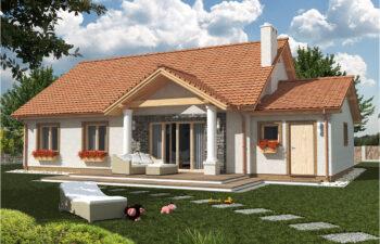 Projekt domu jednorodzinnego Anita Dworek A widok ogród