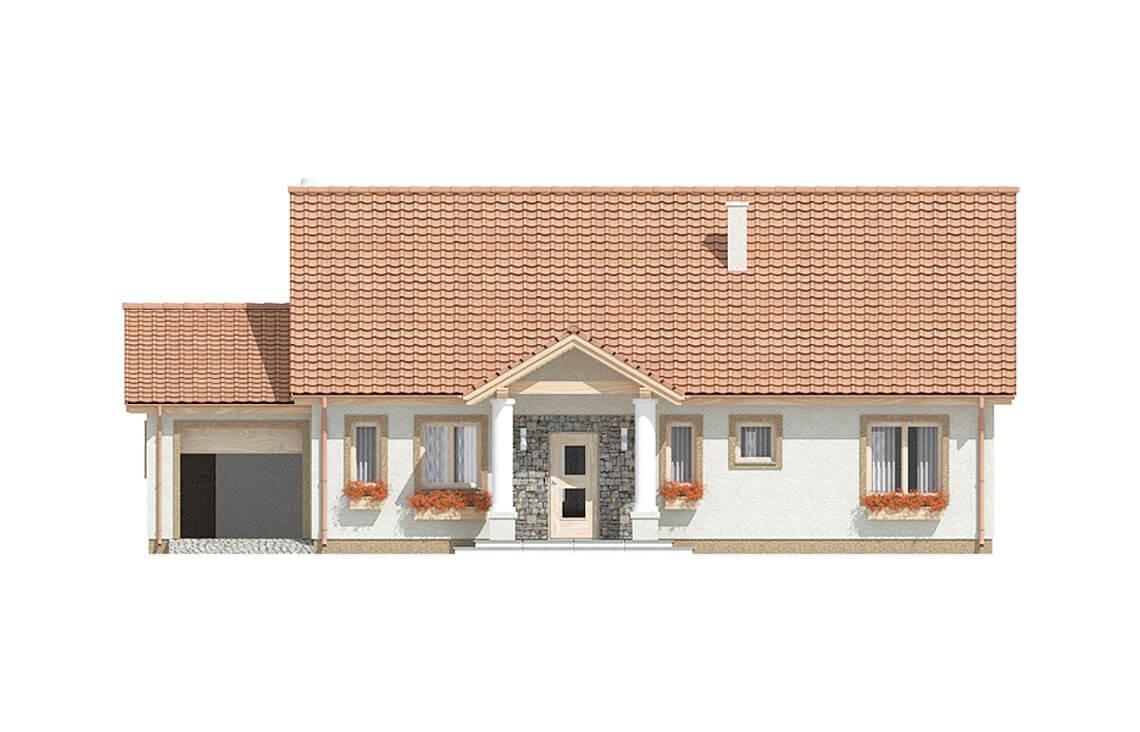 Projekt domu jednorodzinnego Anita Dworek A elewacja front