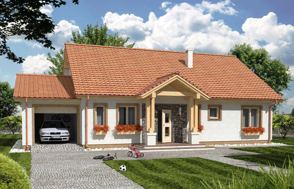 Projekt domu jednorodzinnego Anita Awidok front