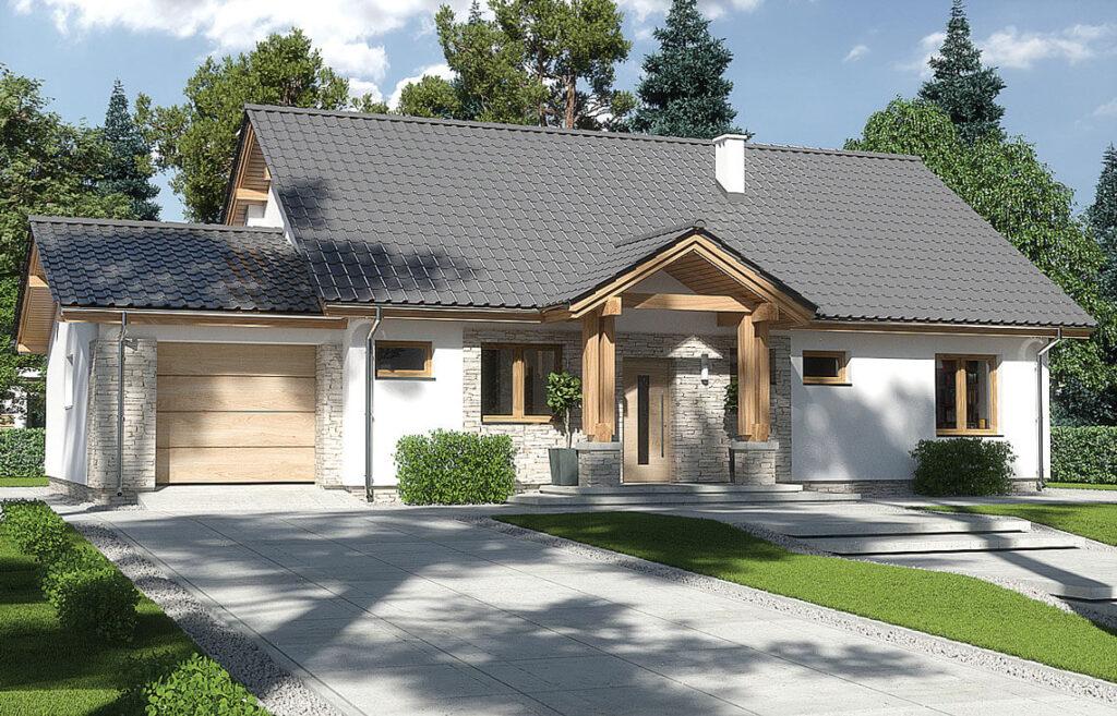 Projekt domu jednorodzinnego Anita Nova Awidok front 2