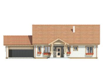 Projekt domu jednorodzinnego Anita B elewacja front
