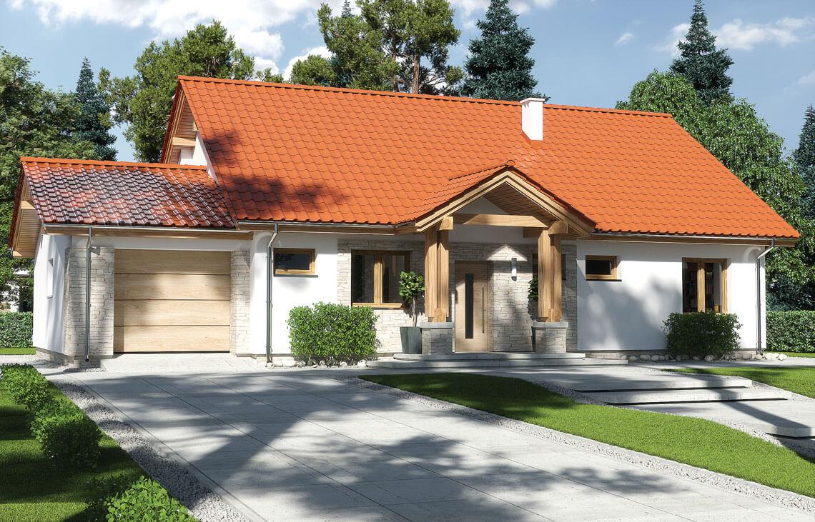 Projekt domu jednorodzinnego Anita Nova A widok front