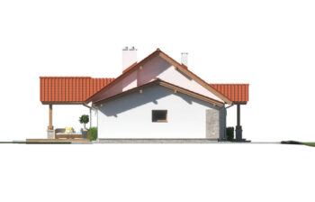 Projekt domu jednorodzinnego Anita Nova A elewacja lewa