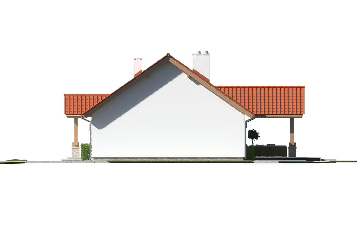 Projekt domu jednorodzinnego Anita Nova A elewacja prawa