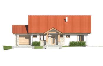 Projekt domu jednorodzinnego Anita Nova A elewacja front