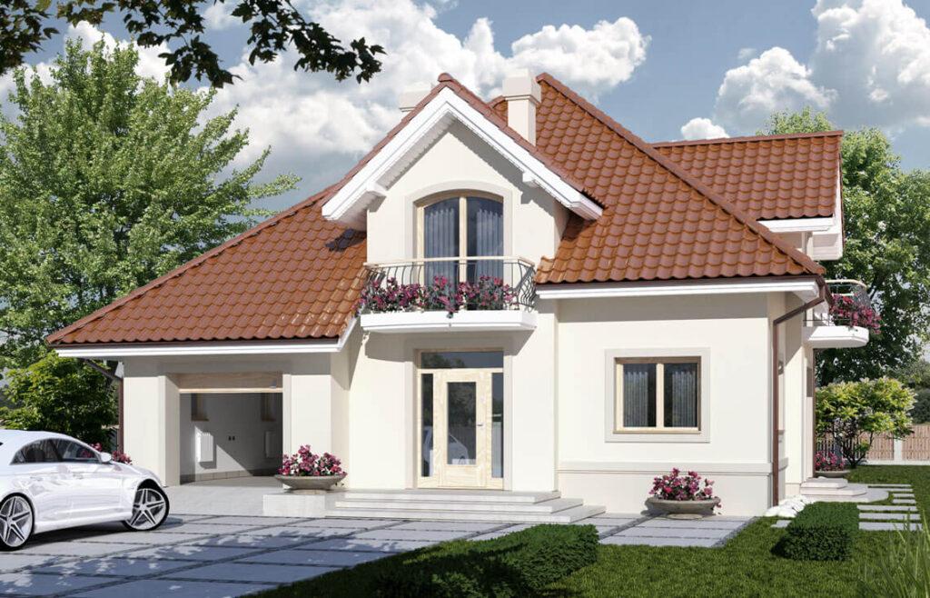 Projekt domu jednorodzinnego Aramis Awidok front