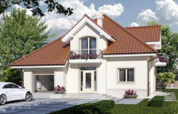 Projekt domu jednorodzinnego Aramis A widok front