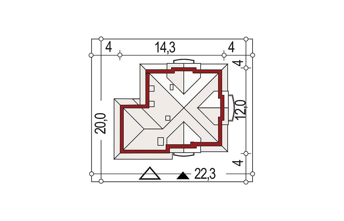 Projekt domu jednorodzinnego Aramis B sytuacja