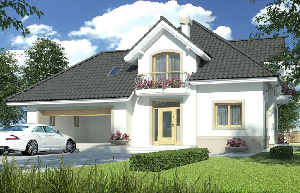 Projekt domu jednorodzinnego Aramis B widok front