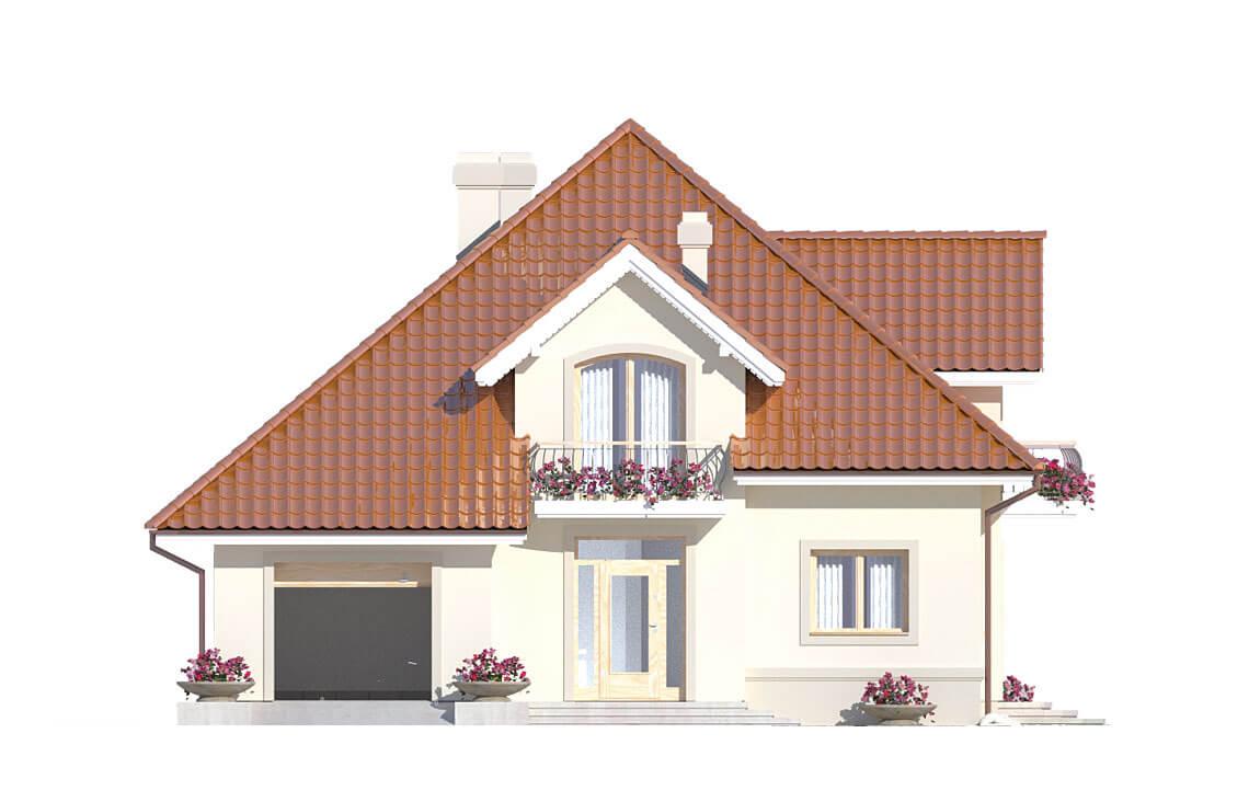 Projekt domu jednorodzinnego Aramis A elewacja front
