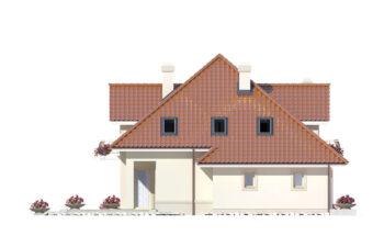 Projekt domu jednorodzinnego Aramis A elewacja lewa