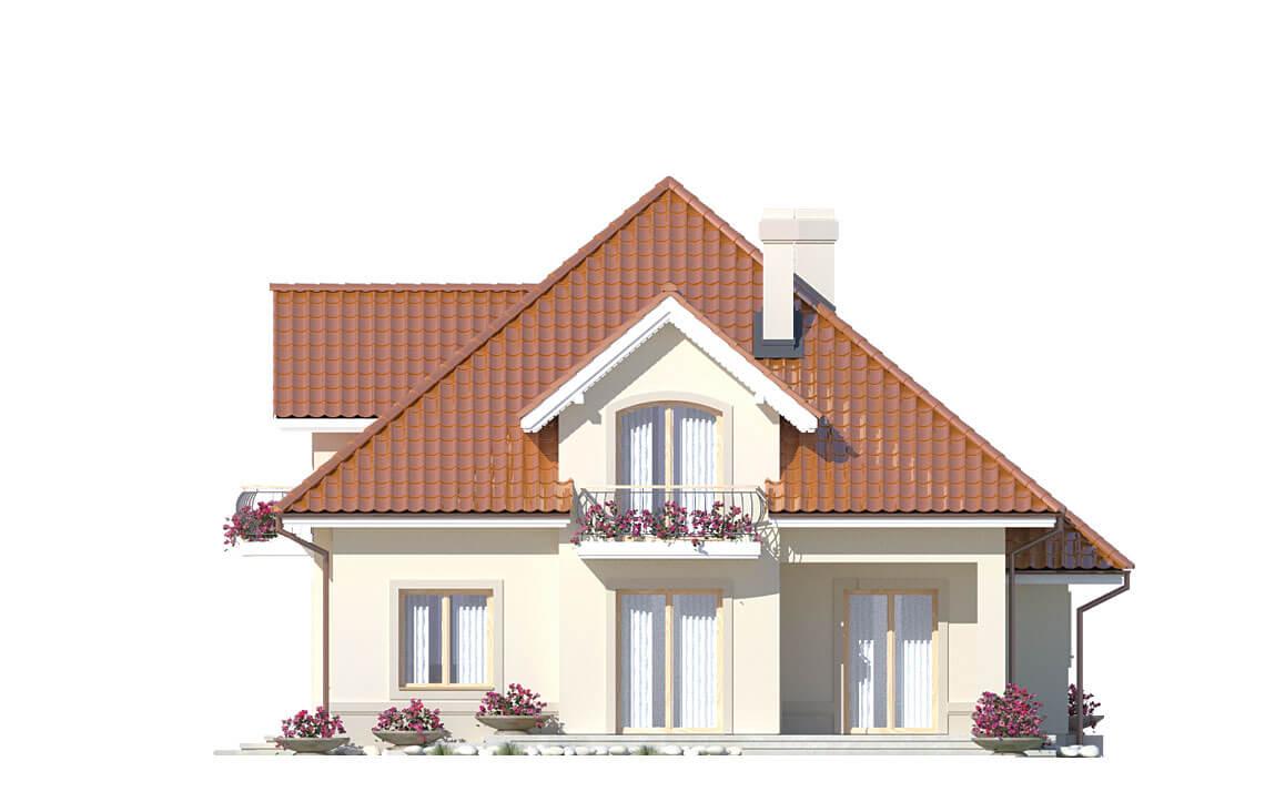 Projekt domu jednorodzinnego Aramis A elewacja ogród